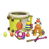 Музыкальная игрушка – ПАРАМ-ПАМ-ПАМ для детей от 1 до 2 лет (8 инструментов, в барабане) ТМ Battat BX1007Z
