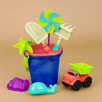 Набор для игры с песком и водой - ВЕДЕРЦЕ МОРЕ для детей от 1 до 2 лет (9 предметов) ТМ Battat BX1330Z