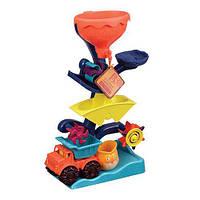 Набор для игры с песком и водой - МЕЛЬНИЦА для детей от 1 до 2 лет (в комплекте машинка, ведерце) ТМ Battat BX1310Z