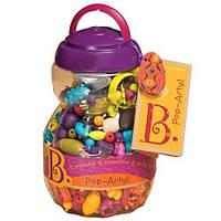 Набор для изготовления украшений - ПОП-АРТ для девочек от 4 лет (500 деталей, в банке) ТМ Battat BX1043Z
