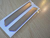 Наклейка s силиконовая Полоса 100х14х1.2мм 2шт серебристая хром хамелеон без надписи на авто