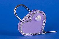 """Замочек для влюбленных """"Сердце на двоих"""" фиолетовый"""