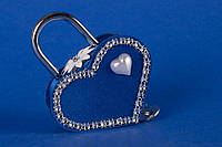 """Замочек для влюбленных """"Сердце на двоих"""" синий"""