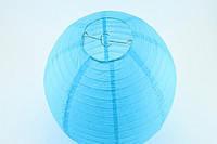 Шар декоративный из папирусной бумаги гладкий (голубой) d15см.(код 02889)
