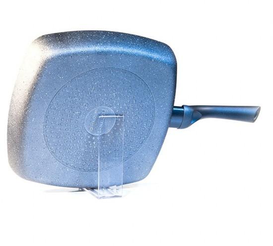 """Квадратная сковорода-гриль """"Moon Stone"""" 28х4.5см алюминиевая с каменным антипригарным покрытием Fissman"""