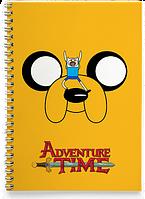 Блокнот Тетрадь  Adventure time, №1