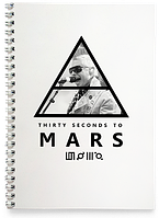 Блокнот Тетрадь 30 Seconds to Mars, №2