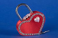 """Замочек для влюбленных """"Сердце на двоих"""" красный"""
