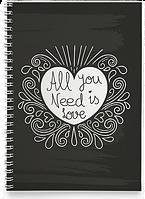 Блокнот Тетрадь All You Need is Love