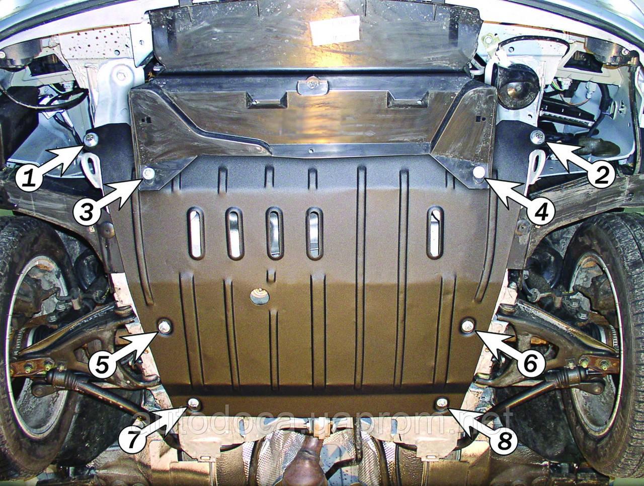 Защита картера двигателя и кпп Renault Megane Coupe  1999-2003  с установкой! Киев