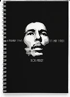 Блокнот Тетрадь Bob Marley, №4