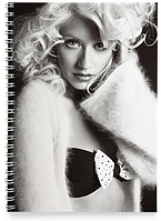 Блокнот Тетрадь Christina Aguilera
