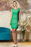 Летнее шифоновое платье с перфорацией классического кроя 44-50 размера, фото 1