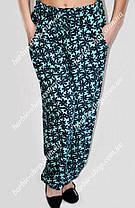 Женские брюки из штапеля  01254,размер 50-56