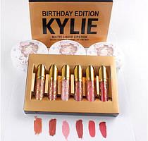 Набор матовых жидких помад от Кайли Дженнер Kylie Birthday Edition mini lipstick