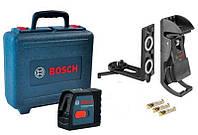Линейный лазерный нивелир Bosch GLL 2-15 Professional + универсальный держатель BM 3, фото 1