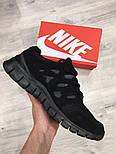Беговые кроссовки Nike Free Run Plus 2 black. Живое фото. (Реплика ААА+), фото 8