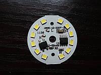 Cветодиодная плата модуль 7W 220V холодный белый SMD 2835 650-700LM