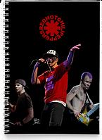 Блокнот Тетрадь Red Hot Chili Peppers, №2