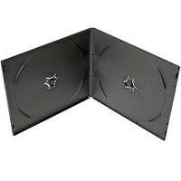 VCD box для 2 CD, 7 мм, глянцевый черный, упаковка 10 шт, от 5 упаковок