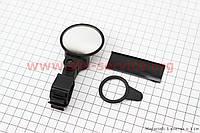 Зеркало круглое, регулируемое, угол настройки 360°, черное SBM-4066