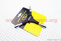 Ключ Y-образный 6 предметов (шестигранники 4,5,6мм, головки 8,10,12мм), SBT-2715