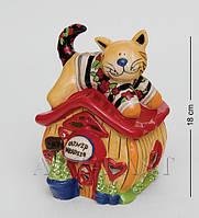 Подсвечник фарфоровый Домик кота Тимофея