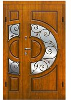 Двери Стандарт Украина АРМА Т-1 120 см левая Винтаж ковка дуб золотой (венорит) 100 % вата (304)