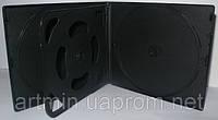 VCD box для 10 CD, 10 мм, матовый черный, от 10 шт