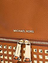 Рюкзак Michael Kors Rhea Studded Steel Brown, фото 3
