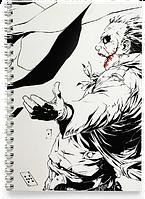 Блокнот Тетрадь Джокер и Бэтмен