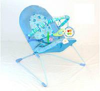 Детский шезлонг 30606, съемная дуга с игрушками, вибрация, металлическая рама, текстиль, нагрузка 12 кг