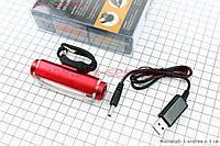 Фонарь задний 16 диодов 100 lumen, Li-ion 3.7V 500mAh зарядка от USB, влагозащитный, MC-BK001