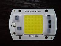 Cветодиодная плата 50W 220V холодный белый 5000-5500LM, фото 1