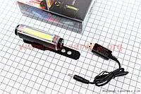 Фонарь передний 16 диодов 100 lumen, Li-ion 3.7V 500mAh зарядка от USB, влагозащитный, MC-BK001