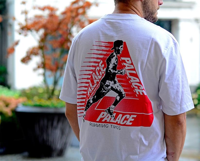 Футболка с принтом Palace finger-up-skate мужская