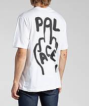 Футболка мужская с принтом Palace finger-up-skate, фото 2