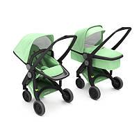 Greentom - Детская коляска Upp 2 в 1, цвет мяты - черное шасси