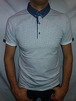 Мужская футболка воротник FIBAK белая