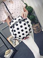 Сумка рюкзак, трансформер в форме элегантной шляпы с принтами