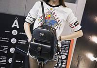 Стильный рюкзак женский кожзам с бантиком