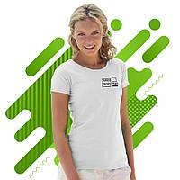 Женская футболка 'Lady-Fit Valueweight-T', 5 цветов, Белая, с нанесением логотипа,061372030