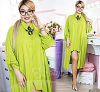 Красивое женское платье-рубашка батал р.48-50,52-54,ST Style