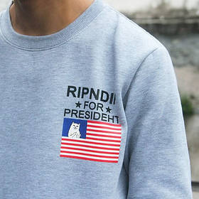 Свитшот с принтом RipNDip for Presideht