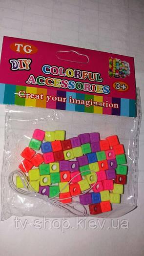 Бусины для плетения браслетов Буквы (цветные)