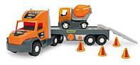Машина эвакуатор с бетономешалкой Super Tech Truck Wader 36750