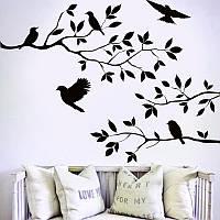Наклейка виниловая Птицы на ветке 3D декор