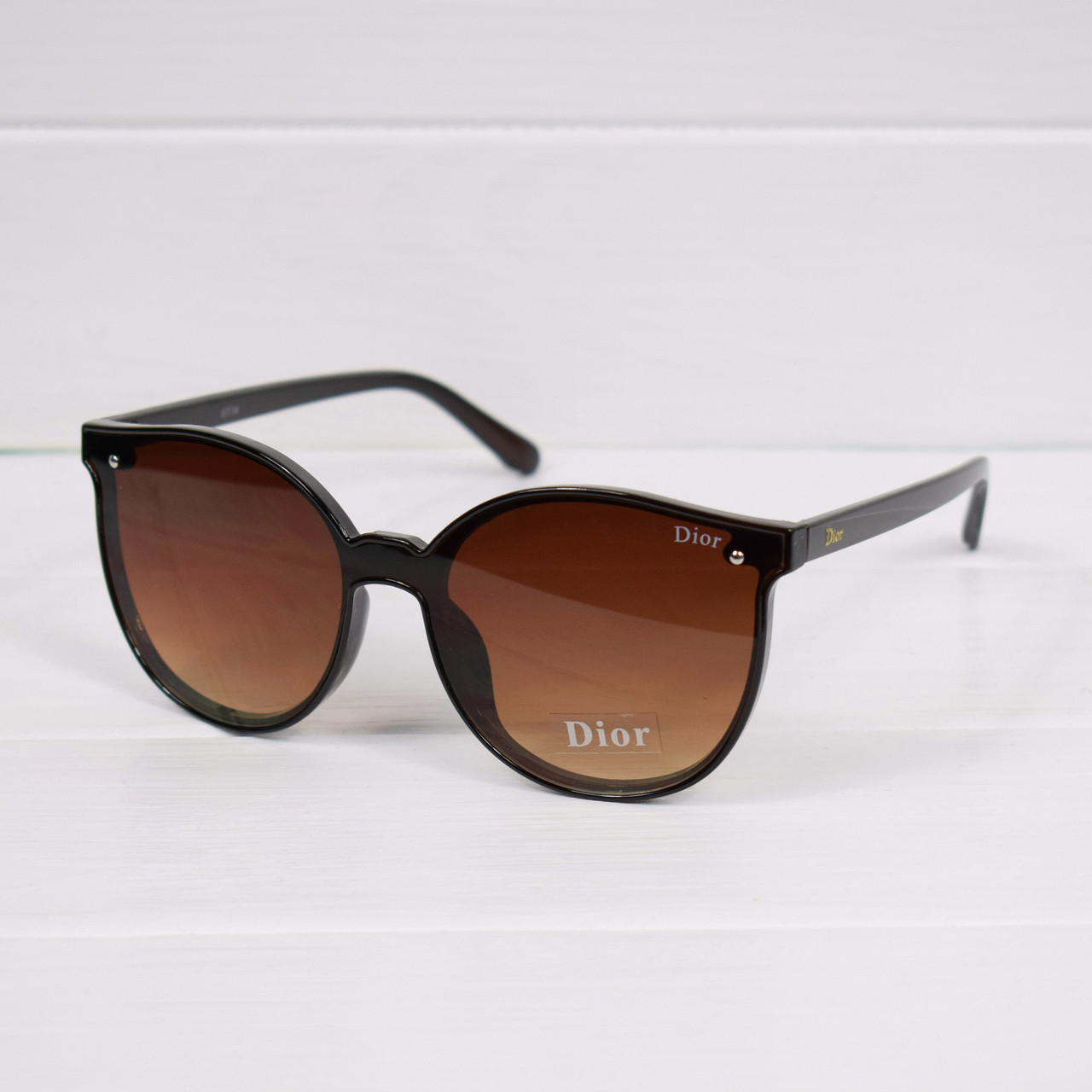 2e8676b92707 Очки женские от солнца в стиле Dior Fire коричневые, магазин очков ...
