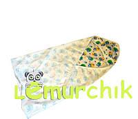 Пеленка уголок с капюшоном для купания новорожденного