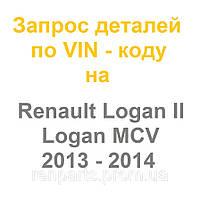 Запчасти Renault Logan II / Logan II MCV 2013, 2014, 2015 - оригинал Renault